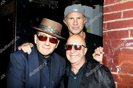 Elvis Costello, Chad Smith and Paul Shaffer