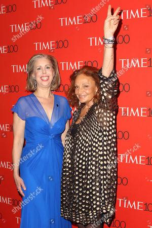 Nancy Gibbs and Diane von Furstenberg