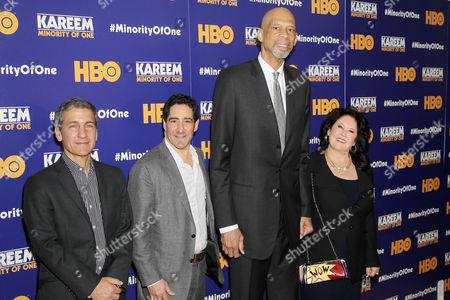 Stock Image of Mike Tollin (Exec. Producer), Kenneth Hershman (Exec. Producer, Pres. HBO Sports), Kareem Abdul Jabbar, Deborah Morales (Producer)