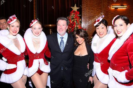 Hank Ratner (Chairman, Garden of Dreams), Paula Abdul and Rockettes