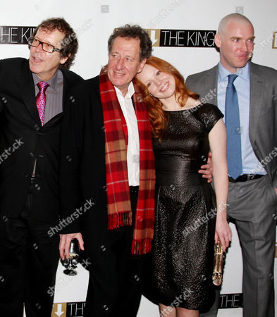 Neil Armfield (Director), Geoffrey Rush, Lauren Ambrose and Brian Hutchison at the after party