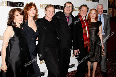 Stock Image of Andrea Martin, Susan Sarandon, William Sadler, Neil Armfield (Director), Geoffrey Rush, Lauren Ambrose and Brian Hutchison at the after party
