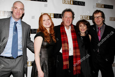 Brian Hutchison, Lauren Ambrose, Geoffrey Rush, Andrea Martin, and Neil Armfield (Director) at the after party