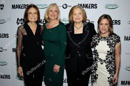 Gloria Steinem, Paula Kerger (Pres. CEO PBS), Sharon Percy Rockefeller, Dyllan Mcgee (Makers Filmmaker)