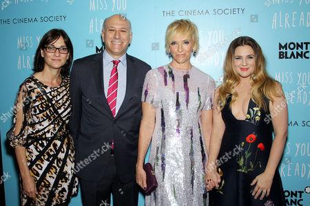 Eda Kowan (Sr. Vice Pres. Acquisitions Lionsgate), Howard Cohen (Co-Pres. Roadside Attractions), Toni Collette, Drew Barrymore