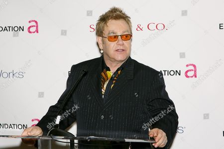 Sir Elton John at the launch of the Elton John Fireside Holiday Collection available at Bath and Body Works, a portion of proceeds will benefit The Elton John Aids Foundation.