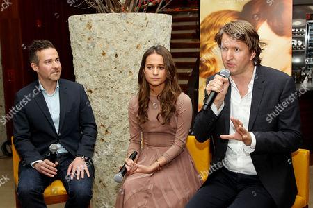 David Ebershoff (moderator/Author), Alicia Vikander, Tom Hooper (Director)