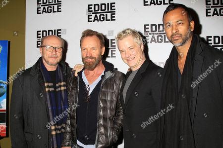 Stock Photo of Paul Haggis, Sting, Chris Botti and Ronnie Madra