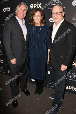 Mark Greenberg (Pres & CEO; EPIX), Anne Sweeney and Alex Gibney