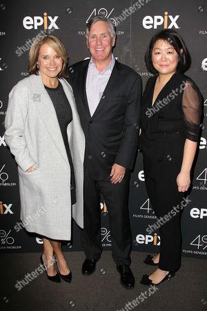 Katie Couric, Mark Greenberg (Pres & CEO; EPIX) and Caroline Suh (Director)