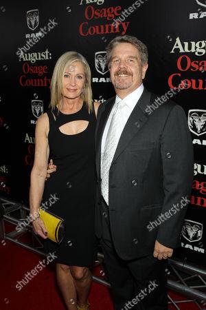 Stock Image of John Wells (Director) with wife Marilyn Wells