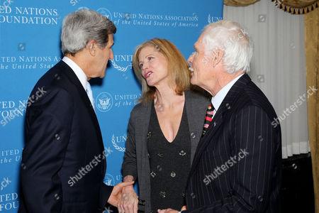 Senator John Kerry, Catherine Crier, Ted Turner