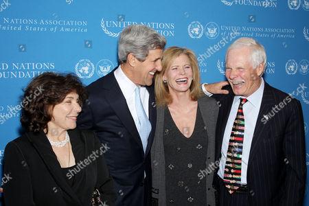 Teresa Heinz Kerry, Senator John Kerry, Catherine Crier, Ted Turner
