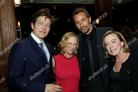 Stock Image of Thomas Vinterberg (Director), Claudia Lewis, Matthias Schoenaerts, Nancy Utley