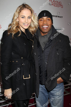 Stock Picture of Traci Barber and Tiki Barber