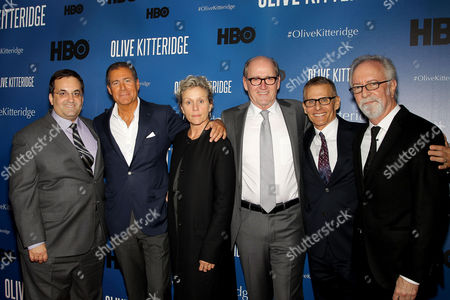Kary Antholis, Richard Plepler, Frances McDormand, Richard Jenkins, Michael Lombardo, Gary Goetzman