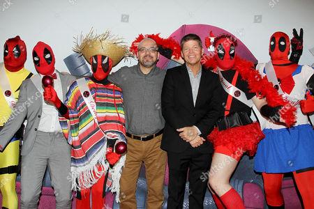 Stock Image of Fabian Nicieza, Rob Liefeld (Creators) with Deadpool fans