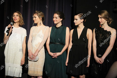 Sofia Coppola, Claire Julien, Katie Chang, Emma Watson and Taissa Farmiga