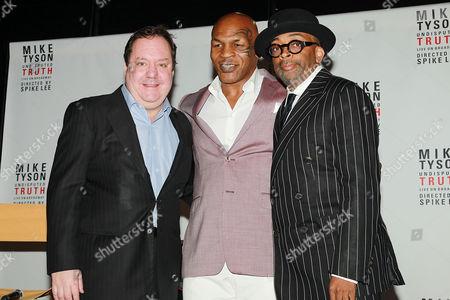 James L. Nederlander, Mike Tyson and Spike Lee