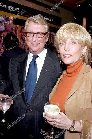 Stock Photo of Mike Nichols and Lesley Stahl.