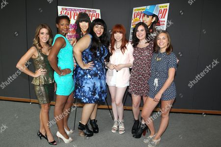 Stock Photo of Carly Rae Jepsen and finalists Paige Rawl, Kay-Ci Bele, Ant Roman, Stacey Ferreira, Paige McKenzie