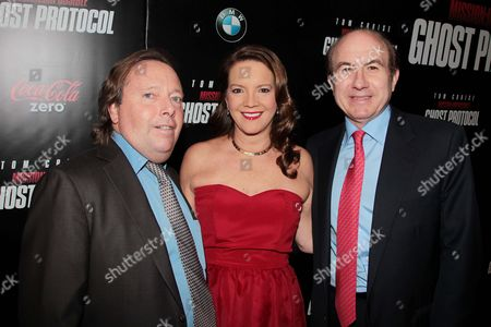 Richard Gelfond, Peggy Gelfond and Philippe Dauman