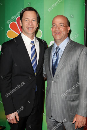 Stock Picture of Jeff Gaspin and Jeff Zucker