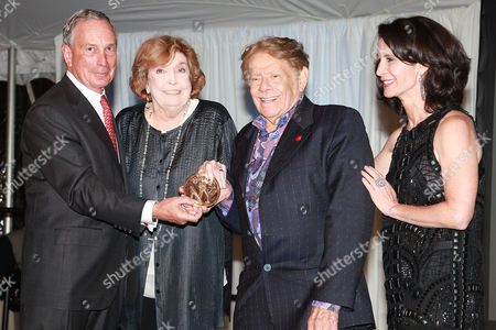 Stock Photo of Mayor Michael Bloomberg, Anne Meara, Jerry Stiller and Katherine L.Oliver
