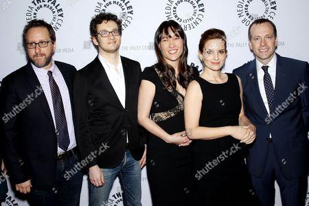 Stock Photo of Josh Siegal, Dylan Morgan, Colleen McGuinness, Tina Fey and Robert Carlock