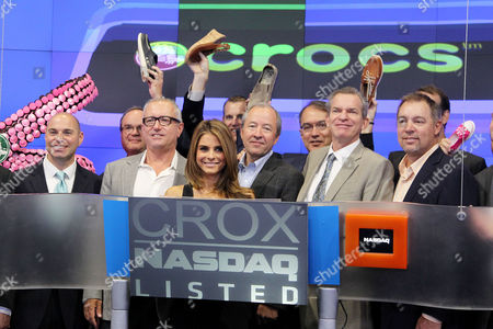 Editorial picture of Crocs 10th Anniversary ringing of the NASDAQ Bell, New York, America - 31 Jul 2012