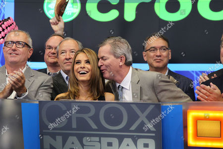 Stock Picture of Crocs Founder George Boedecker and Maria Menounos