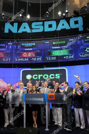Crocs Founder George Boedecker and Maria Menounos