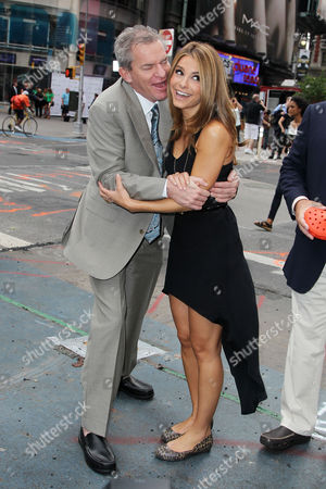 Stock Image of Crocs Founder George Boedecker and Maria Menounos