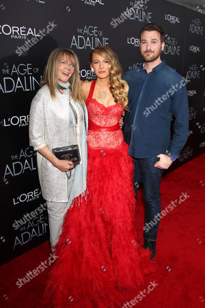 Stock Photo of Blake Lively, Elaine Lively (mother), Eric Lively (brother)