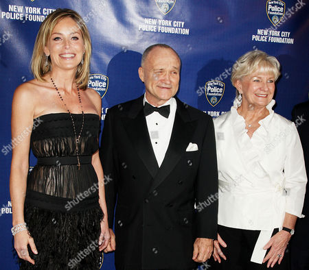 Sharon Stone, Police Commissioner Raymond Kelly and wife Veronica Kelly
