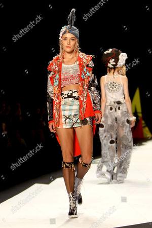Chloe Norgaard on the catwalk