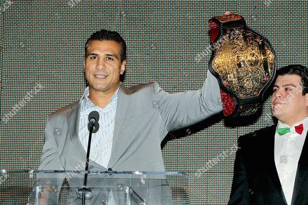 Alberto Del Rio and Ricardo Rodriguez (Ring announcer)