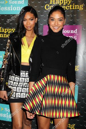 Stock Image of Chanel Iman and Heidi de la Rosa