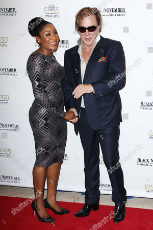 Mbong Amata and Mickey Rourke
