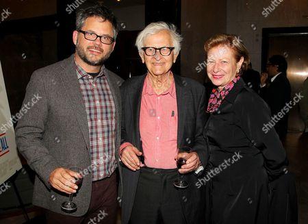 Stock Image of Jacob Kornbluth (Director), Albert Maysles and Nina Rosenblum
