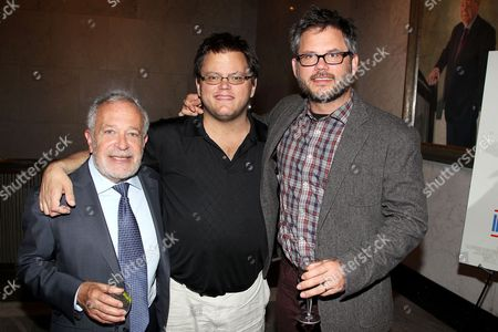 Stock Picture of Robert Reich and Jacob Kornbluth (Director) with brother