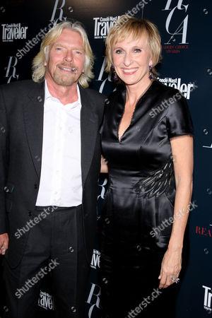 Richard Branson and Klara Glowczewska (Editor-in-Chief of Conde Nast Traveler)