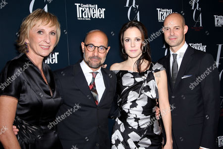 Klara Glowczewska (Editor-in-Chief of Conde Nast Traveler), Stanley Tucci, Mary-Louise Parker and Chris Mitchell (VP,Publisher of Conde Nast Traveler)