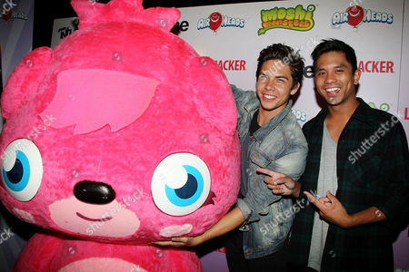 Allstar Weekend (L-R: Cameron Quiseng and Michael Martinez) with Moshi Monster