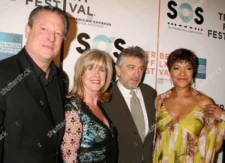 Al Gore, Tipper Gore, Robert De Niro, Grace Hightower