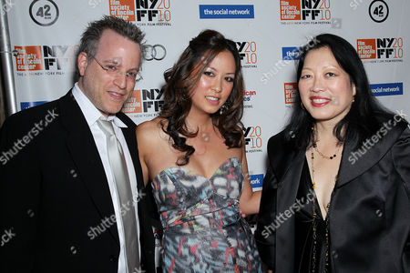 Ben Mezrich, wife Tonya Chen and Rose Kuo (Executive Director of the Film Society of Lincoln Center)