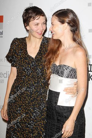 Maggie Gyllenhaal and Topaz Page-Green (Founder, The Lunchbox Fund)