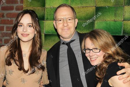 Dakota Johnson, Toby Emmerich and Dana Fox