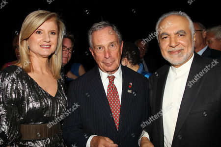 Arianna Huffington, Mayor Michael Bloomberg and Imam Feisal Abdul Rauf