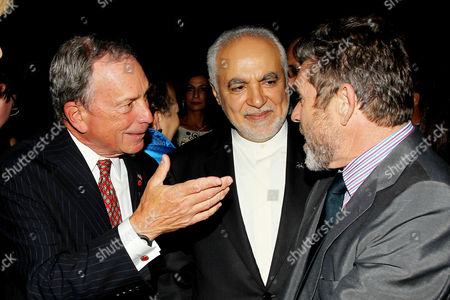 Mayor Michael Bloomberg, Imam Feisal Abdul Rauf and Jann Wenner